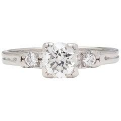 Estate Diamond Platinum Engagement Ring