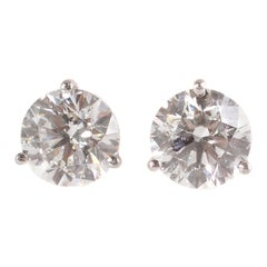 Tiffany & Co. 4.22 Carat Diamond Stud Earrings