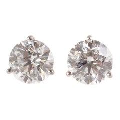 Tiffany & Co. 4.22 Carat Diamond Stud Earrings