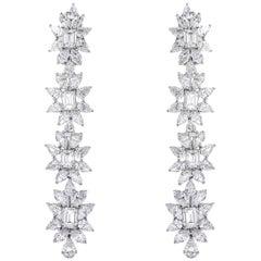 38.50 Carat Fancy Flower Drop Earrings