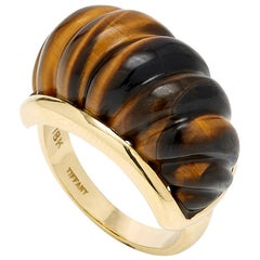 Tiffany & Co. Gold Tiger's Eye Ring