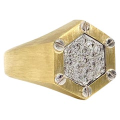 La Triomphe 18 Karat Two-Tone Diamond Ring