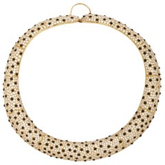 Leopard Diamond Onyx Necklace