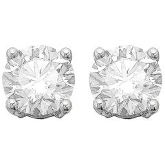 GIA Certified 3.06ct G VS1 Single Stone Solitaire Stud Round Diamond Earrings