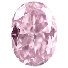 GIA Certified Natural Fancy Pink Oval Diamond 1.11 Carat