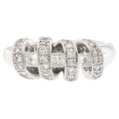 1.00 Carat Diamonds in 18 Karat White Gold Wedding Band Ring