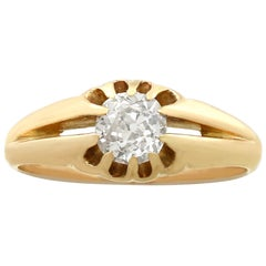 1900s Antique Diamond and Yellow Gold Ring