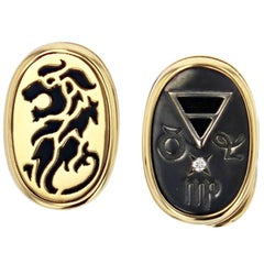 Cufflinks 4 Elements Earth by Elie Top