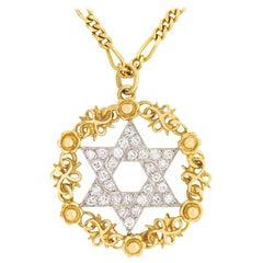 Kutchinsky Star of David Diamond Pendant, circa 1950s