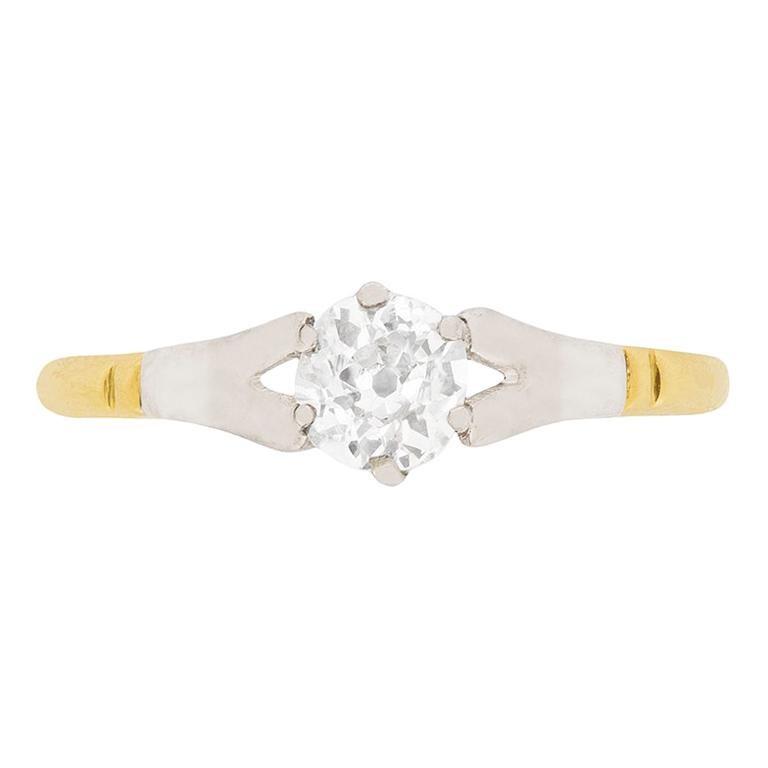 Edwardian 0.51 Carat Diamond Solitaire Ring, circa 1910
