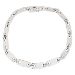 Cartier White Gold Rectangular Link Bracelet