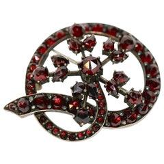 Antique, Bohemian Garnet Brooch
