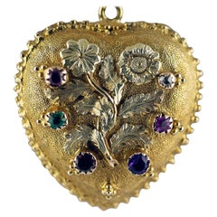Victorian Regard Heart Locket Pendant, circa 1840