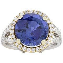 Ceylon Sapphire Ring, 5.65 Carat