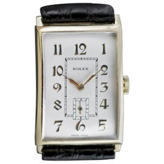 Goldene Art-Déco-Armbanduhr von Rolex, 1933