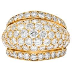 Cartier 4.14 Carat Diamond Nigeria Collection 18 Karat Gold Cocktail Ring
