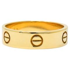 Cartier Men's 18 Karat Gold Love Collection Band Ring