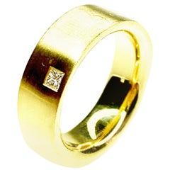 Princess Cut Diamond Ring, Est. 0.06 Carat, 18 Karat Gold