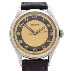 Vintage Eterna Stainless Steel Watch, 1950s