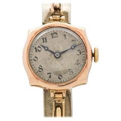 Vintage Rolex Ladies 9 Karat Rose Gold Watch, 1910s