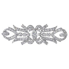 Magnificent 1.69 Carat Total Weight Diamond Platinum Pin