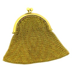 Tiffany & Co. Vintage Mesh Purse 18 Karat Yellow Gold