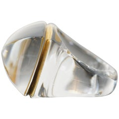 Baccarat La Bague Pop Clear Crystal Ring