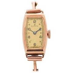 Vintage Rolex Ladies 9 Karat Rose Gold Watch, 1930s