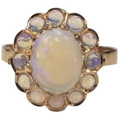 14 Karat Yellow Gold Opal Ring