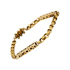Georgian Star Link Design 15 Carat Gold Bracelet
