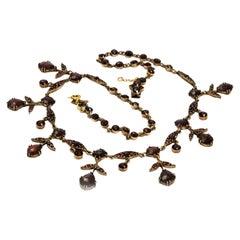 Edwardian Pinchbeck Garnet Necklace