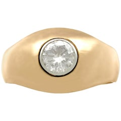 1940s Diamond and Yellow Gold Cocktail Ring