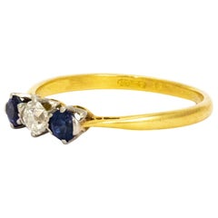 Edwardian Sapphire and Diamond Ring 18 Carat Gold