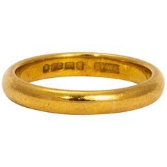 Art Deco 22 Carat Gold Band