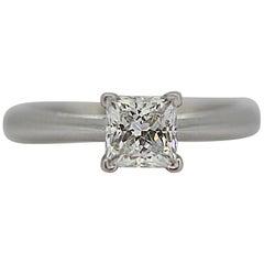 18 Karat White Gold Ladies Ring with a Brilliant Cut Diamond