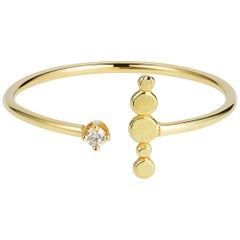 Sweet Pea Bits and Bobs 18k Yellow Gold Bar and Diamond Open Ring