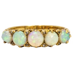 Opal and 18 Carat Gold Ring, circa 1890s
