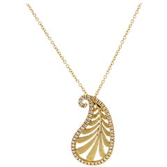 Tiffany & Co. Paloma Picasso Villa Palm Diamond Pendant
