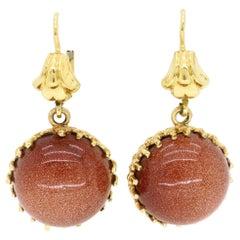 Sunstone Drop Earrings