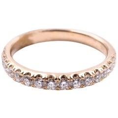 14 Karat Yellow Gold .51 Carat Diamond Band