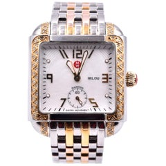 Michele Milou Diamond Gold and Steel Watch Ref. MW15A01D1025