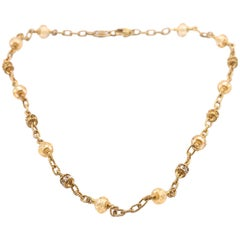 Judith Ripka 18 Karat Yellow Gold Canary Crystal and Yellow Sapphire Necklace