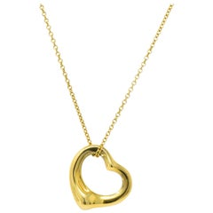 Tiffany & Co. Elsa Peretti 18 Karat Gold Open Heart Necklace