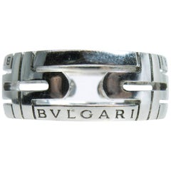 Bulgari 18 Karat White Gold Ring
