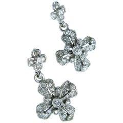 Cathy Waterman Platinum and Diamond Dangle Earrings