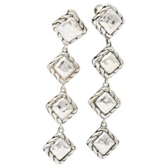 John Hardy Sterling Silver Classic Chain Sugarloaf Drop Earrings