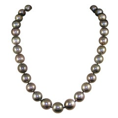 Black Green Grey Natural Tahiti Pearl Cocktail Dress Necklace