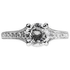 Diamond 1.20ct Single Stone/Solitaire Platinum Engagement Ring