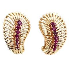 1940s Van Cleef & Arpels Retro Ruby Earrings