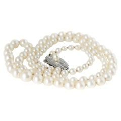Mikimoto Pearl Sterling Silver Necklace